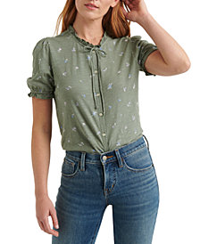 Lucky Brand Printed Button-Up Top