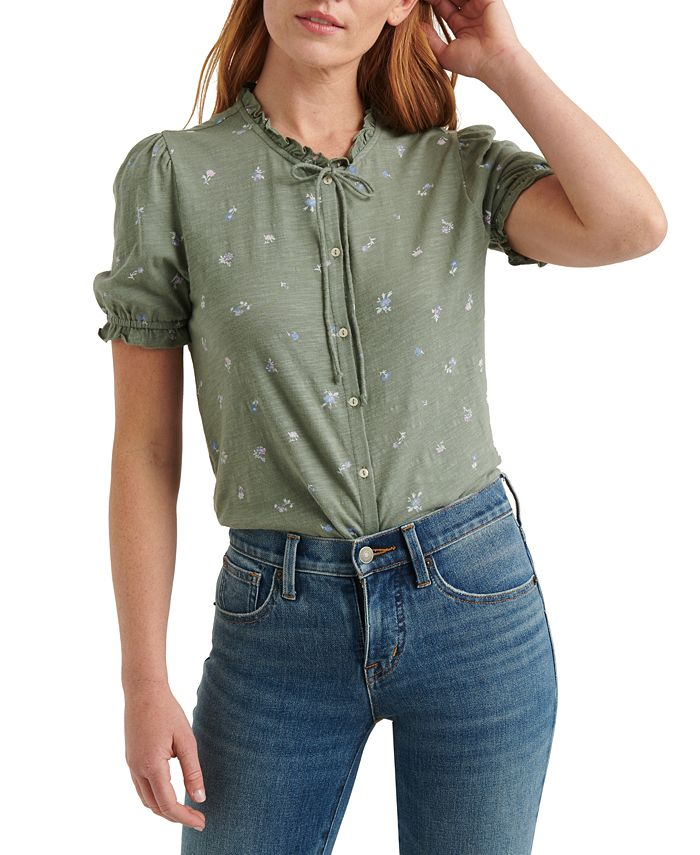 Lucky Brand - Printed Button-Up Top