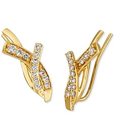 Nude Diamond Crossover Ear Climbers (5/8 ct. t.w.) in 14k Gold