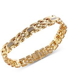 Men's Diamond Link Bracelet (5/8 ct. t.w.) in 10k Gold