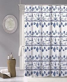 "Marine Fabric Shower Curtain, 70"" x 72"""
