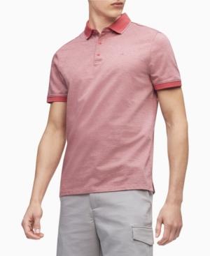 Calvin Klein Men's Herringbone Polo Shirt