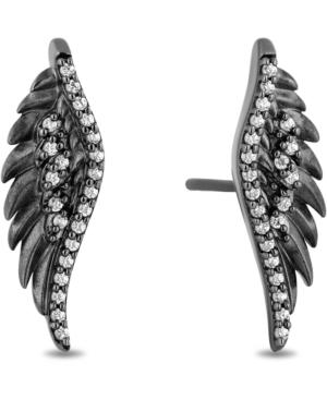 Enchanted Disney Diamond Maleficent Wing Stud Earrings (1/6 ct. t.w.) in Sterling Silver