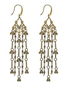 by 1928 Matte 14 K Gold Dipped Tassel Linear Earring