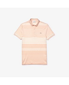 Men's Regular Fit Short Sleeve Stripe Polo Shirt
