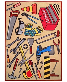 "Fun Time Fun Toolbox 19"" x 29"" Area Rug"