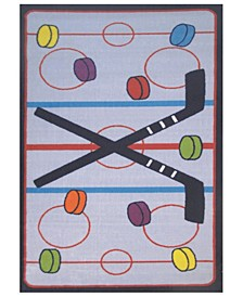 "Fun Time on the Ice 19"" x 29"" Area Rug"