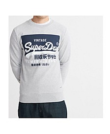 Men's Organic Cotton Vintage-Like Logo Sweatshirt