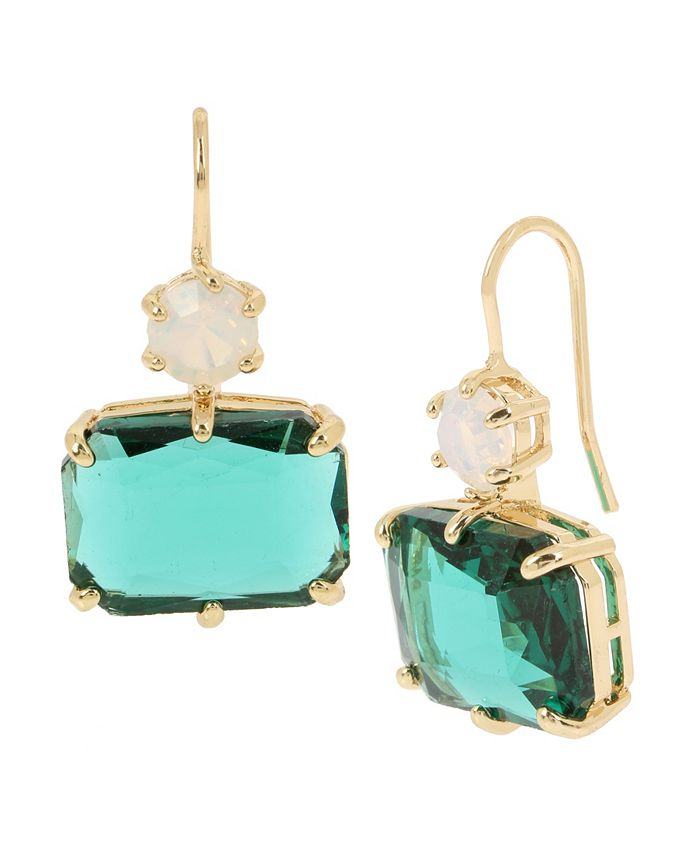 """Jessica Simpson - Mixed Stone Double Drop Earrings, 1.25"""""""