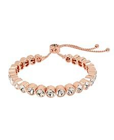 Round Stone Friendship Slider Bracelet