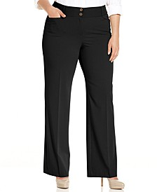 Plus & Petite Plus Size Curvy-Fit Tummy Control Slimming Bootcut Pants, Created for Macy's