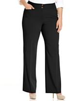 796cc75c191 Alfani Plus   Petite Plus Size Curvy-Fit Slimming Bootcut Pants