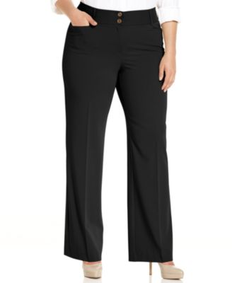 Plus size bootcut trousers
