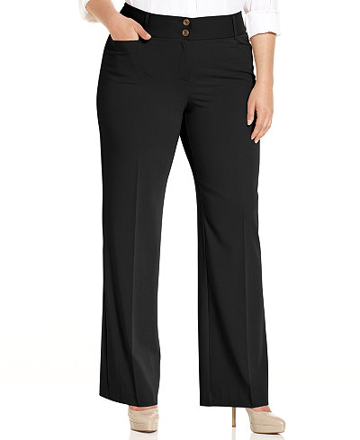 Alfani Plus & Petite Plus Size Curvy-Fit Slimming Bootcut Pants, Created for Macy's