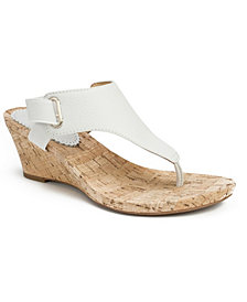 White Mountain Women's All Glad Cork Wedge Sandals