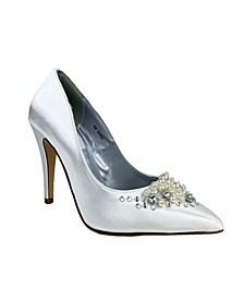 Lennon Imitation Pearl Closed Toe Pump