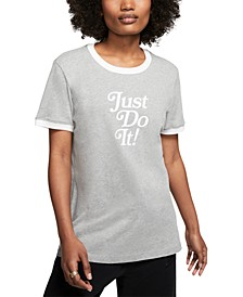 Women's Cotton Just Do It Ringer T-Shirt