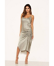 Women's Ruched Detail Midi Dress