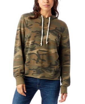 Day Off Printed Burnout French Women's Terry Hoodie