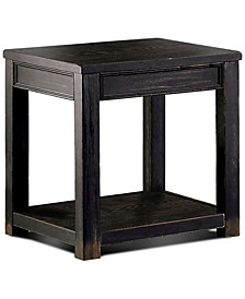 Falima Antique Black End Table