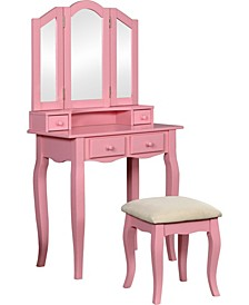 Brooke Transitional Vanity and Stool