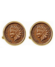 1800's Indian Penny Bezel Coin Cuff Links