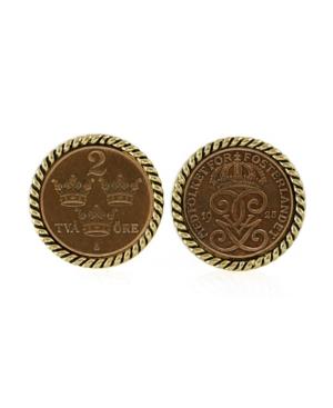 Swedish Coin Ore Crown Coin Cufflinks