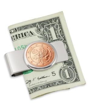 German Oak Twig Five Cent Euro Coin Money Clip