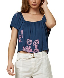 Juniors' Galian Flutter-Sleeve Top