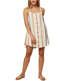 Juniors' Dray Cotton Mini Dress