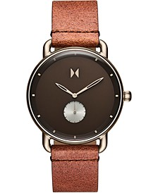 Men's Nomad Land Brown Leather Strap Watch 41mm