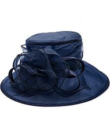 Organza Ruffle Floppy Hat
