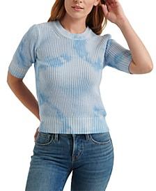 Tie-Dyed Half-Sleeve Sweater
