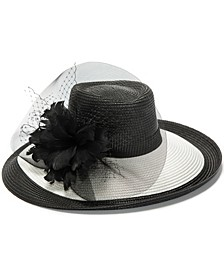 Two-Tone Large Romantic Hat