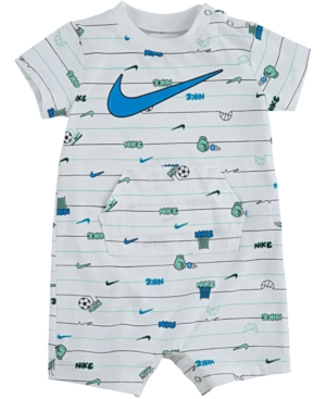Nike Baby Boys Striped Sports Cotton Romper