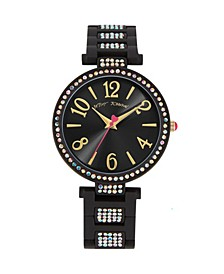 Women's Stone Link Black Bracelet Watch 36mm