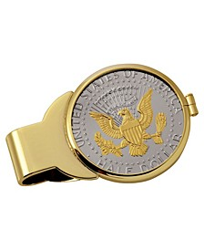 Selectively Gold-Layered Presidential Seal Half Dollar Coin Money Clip