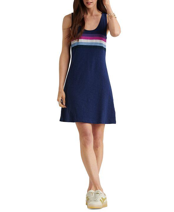 Lucky Brand Stripe Tank Mini Dress