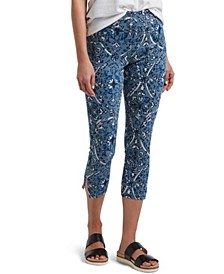 Utopia by Denim Floral Print Capri Leggings, Online Only