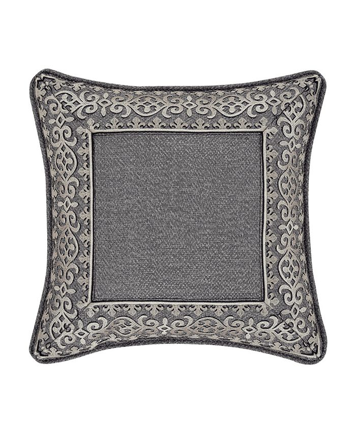"""J Queen New York - Tribeca 18"""" Square Embellished Decorative Throw Pillow"""