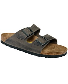 Men's Arizona Birko-Flor Soft Footbed Two-Strap Sandals from Finish Line