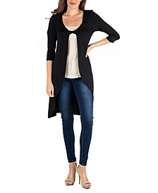 Fabric Twist Closed Front Long Sleeve Cardigan