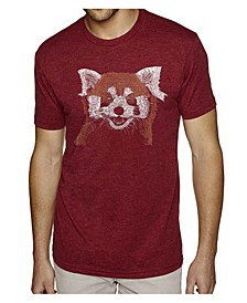 Men's Premium Word Art T-shirt - Red Panda