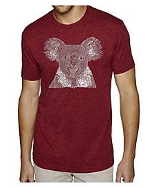 Men's Premium Word Art T-shirt - Koala