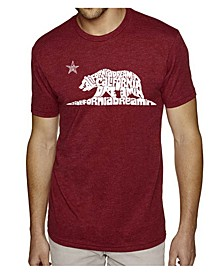 Men's Premium Word Art T-shirt - California Dreamin