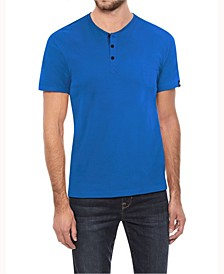Men's Soft Stretch Henley T-Shirt