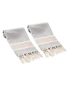 Terra 2 Piece Hand or Kitchen Towel Set