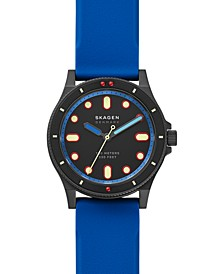 Men's Fisk Blue Silicone Strap Watch 42mm