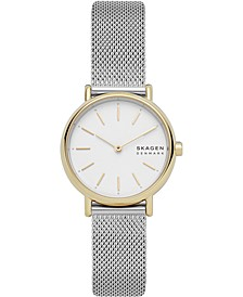 Women's Signature Two-Tone Stainless Steel Mesh Bracelet Watch 30mm