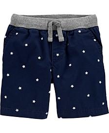 Toddler Boys Star Pull-On Poplin Shorts